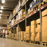 warehouse full of products